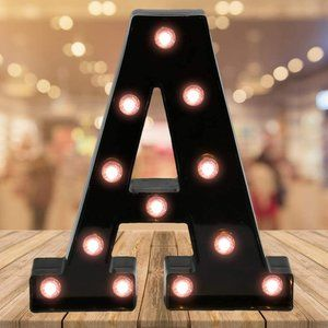 LED Black Light up Marquee Alphabet Letters A-Z &